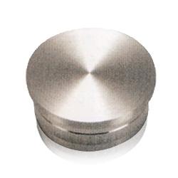 Solid flat end cap